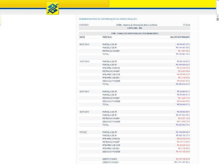 SISBB - Sistema de Informações Banco do Brasil