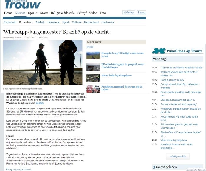 reprodução:http://www.trouw.nl/